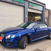 A Bentley that has been worked on by our team