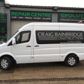 A van that has been worked on by our team