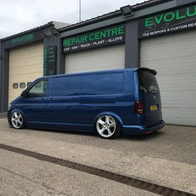 A van that has been worked on by our professionals