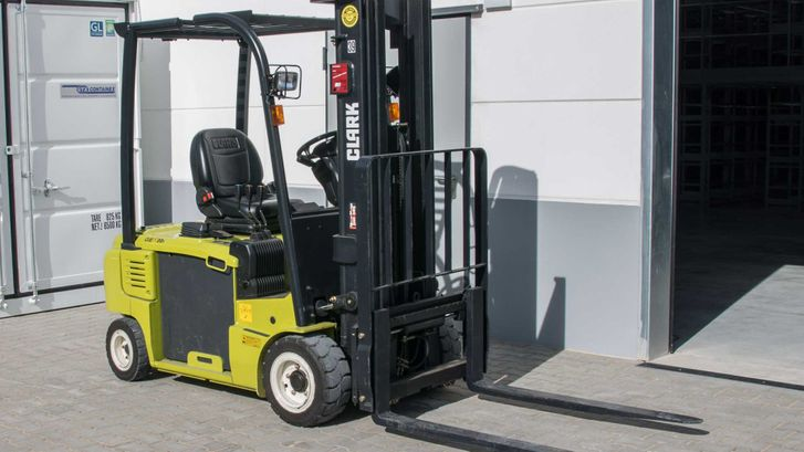 A forklift that our team have worked on