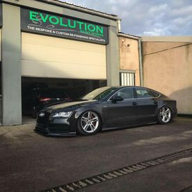 A lowered Audi our team have worked on